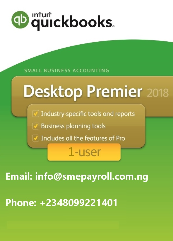 Best price QuickBooks Premier 2018 1 user in Nigeria
