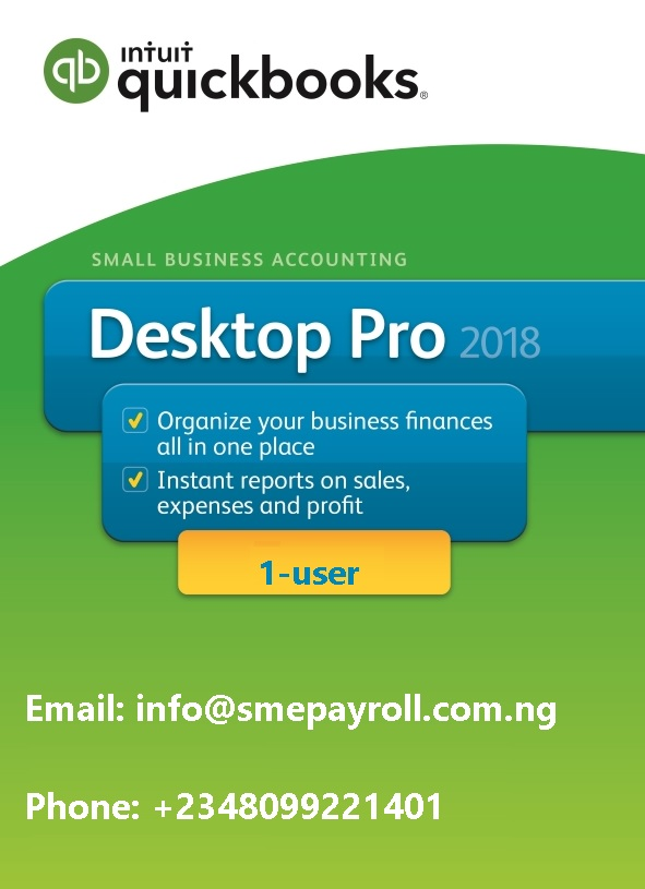 Best price QuickBooks Pro 2018 1 user in Nigeria